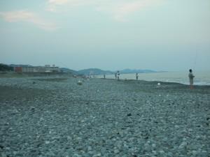 酒匂海岸18時